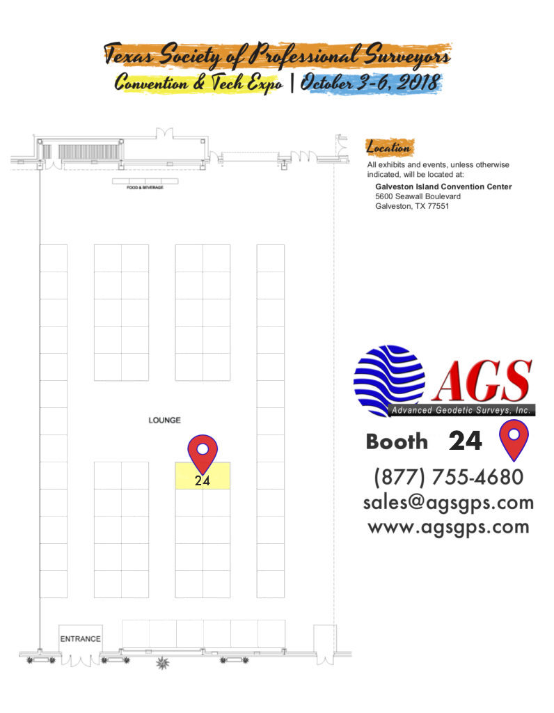 TSPS Convention Map